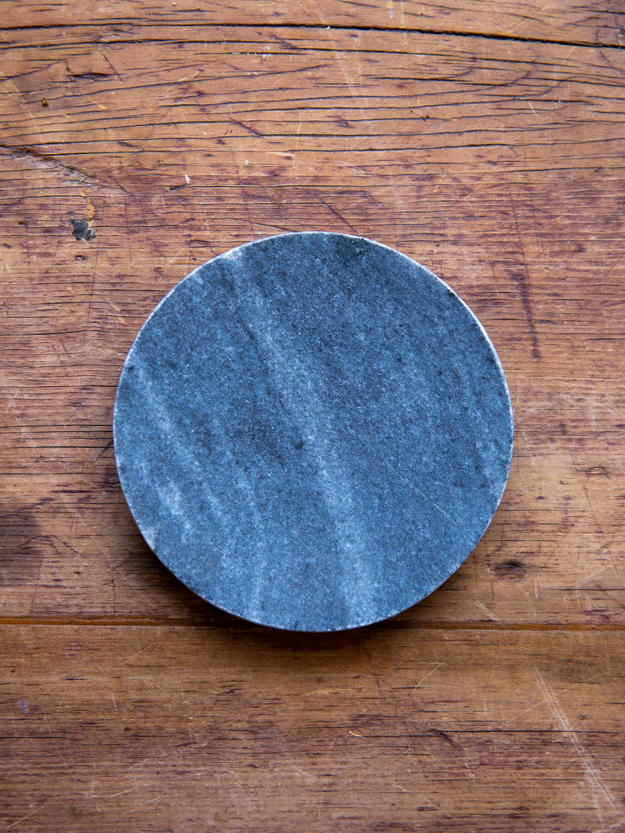 Round Grey Marble Soap DIsh