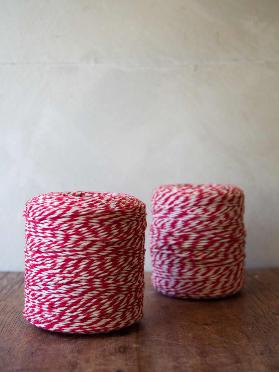 Red and White Italian Cotton String