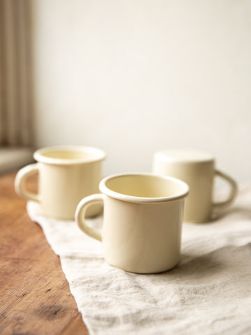 Enamel Mug - Cream