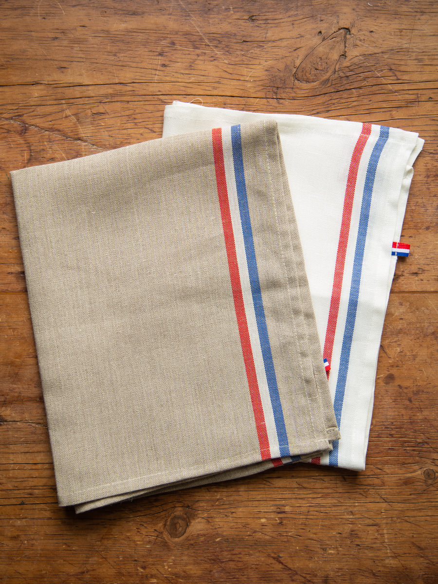 Tricolour French Linen Tea Towel