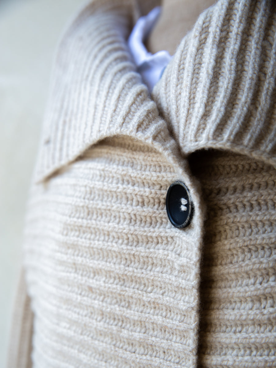 Irish Wool Horizontal Cardigan