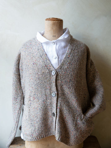 Irish Wool Slouch Cardigan