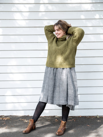Irish Wool Crop Turtle Neck Jumper