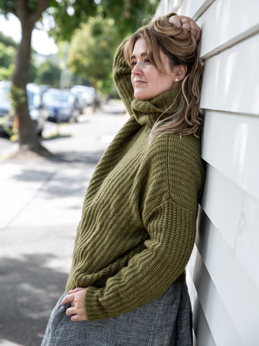 Merino Wool Roll Neck Jumper