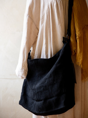 Slouchy Jute Bag- Black