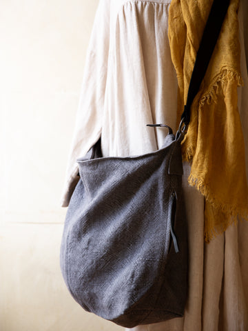 Slouchy Jute Bag- Dark Grey