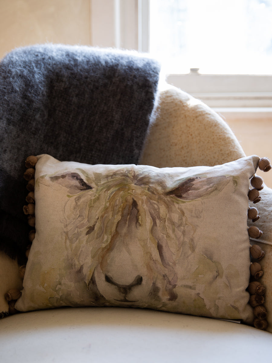 Scottish Linen & Tweed Cushion- Mr. Wooly
