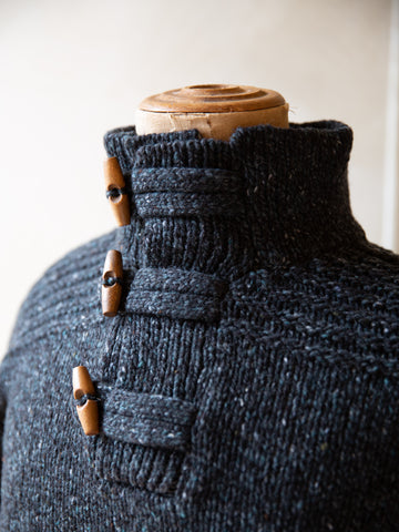 Mens Toggle Neck Jumper