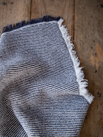 Japanese Charcoal Striped Towel