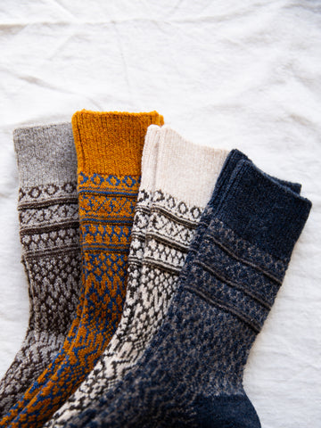 Japanese Wool Jaquard Socks