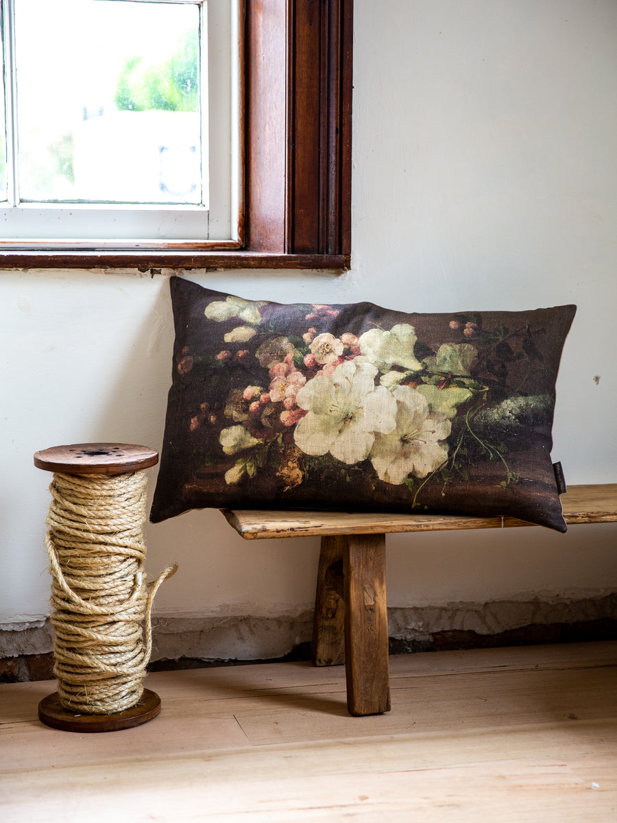 Handmade Linen Cushion - Spring Bouquet