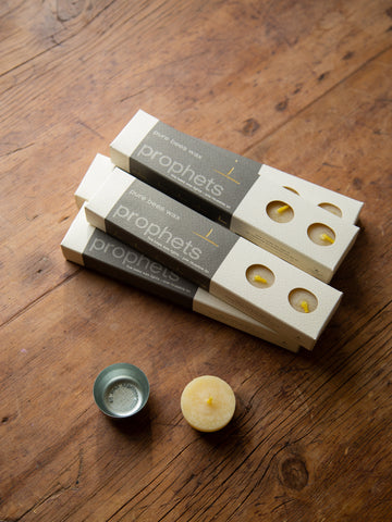 Prophets - 5 pack of pure beeswax tealights