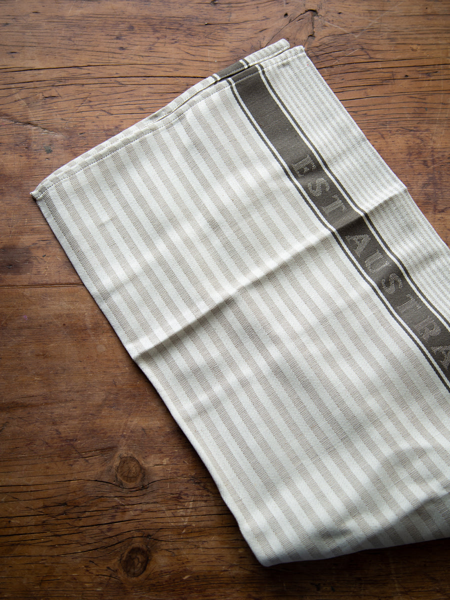 Est Striped Tea Towel