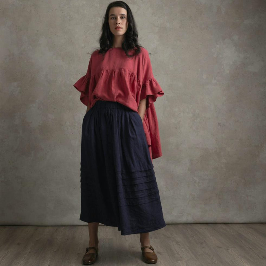 Manteau Noir Prarie Linen Skirt