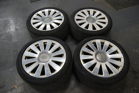 Audi 18inch Genuine 12 spoke Alloys + Tyres (57.1 centre bore) 4F0601025AA