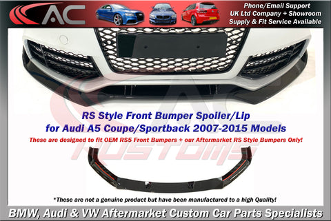 Audi A5/RS5 Front Splitter (2007-2015 Model)