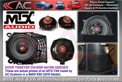 BMW (MTX) Audio Package 1/2/3/5/6 Series (2004-2016 Models)