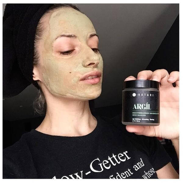 Weekends are for @pampering 🙌 and this Argil green clay powder @kataribeauty
