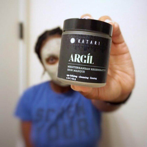 Argíl (green clay) normalizes sebum production in skin