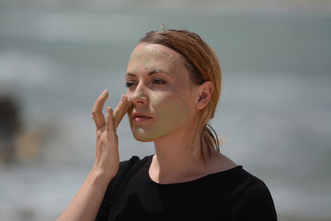 application of green clay masque from Katari