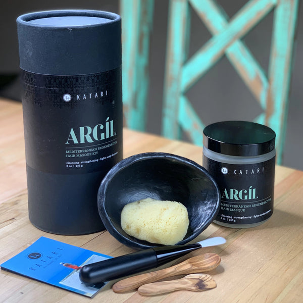 Green clay masque kit: mixing accessories & application tools - Argil - Katari Beauty