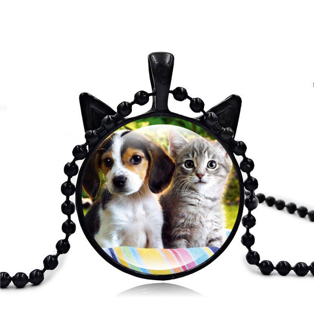 Cute Cats Dog Pendant Necklace