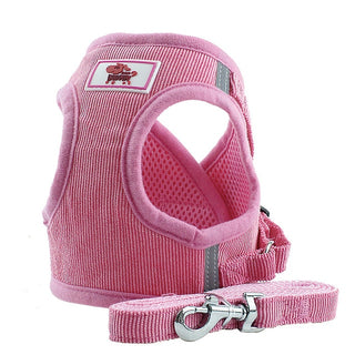 Dog Harnesses Adjustable Vest Walking Soft Breathable Harness Canvas For Small  dogs and puppies