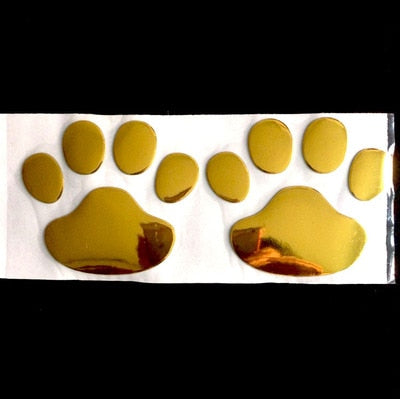 3D Dog Paw Print  Decal Stickers