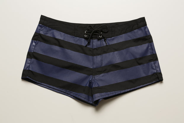 BLUER HYBRID SHORTS QUICK DRY STRIPES (BK×NV) / WOMEN