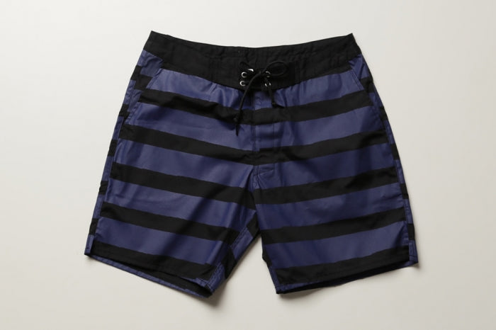 BLUER HYBRID SHORTS  QUICK DRY STRIPES (BK×NV)  / UNISEX