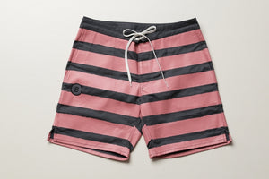 BLUER HYBRID SHORTS STRIPES  (GRY×PINK) / UNISEX