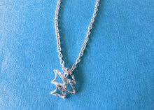 BIG icon necklace WAVES  958 Britannia SILVER