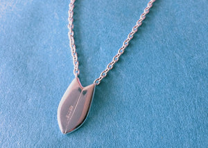 BLUER JEWELRY BIG icon necklace SURFBOARD  958 Britannia SILVER
