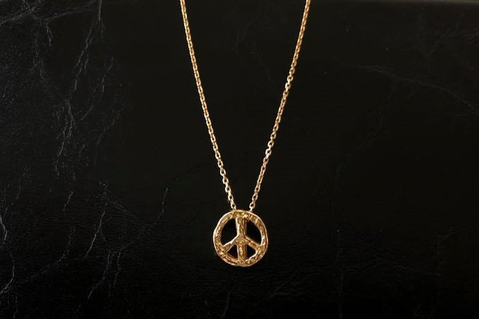 MINI icon necklace PEACE MARK 18K GOLD