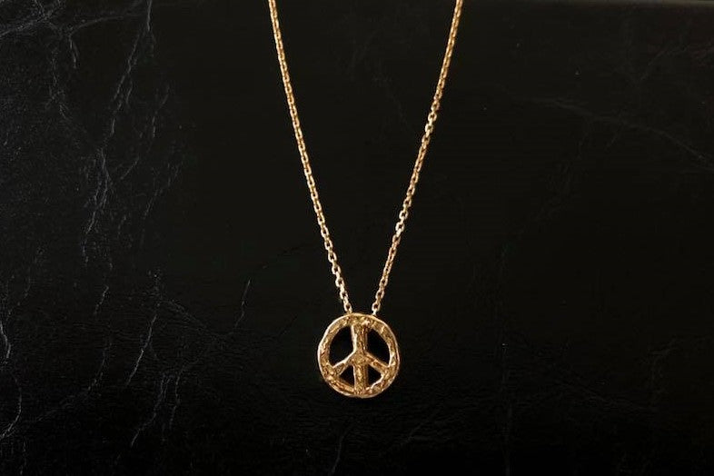 BLUER JEWELRY MINI icon necklace PEACE MARK 18K GOLD
