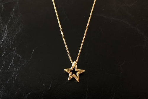 BLUER JEWELRY MINI icon necklace STAR 18K GOLD