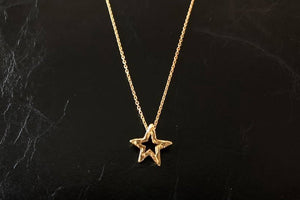 MINI icon necklace STAR 18K GOLD