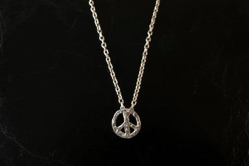 BLUER JEWELRY MINI icon necklace PEACE MARK 958 Britannia SILVER