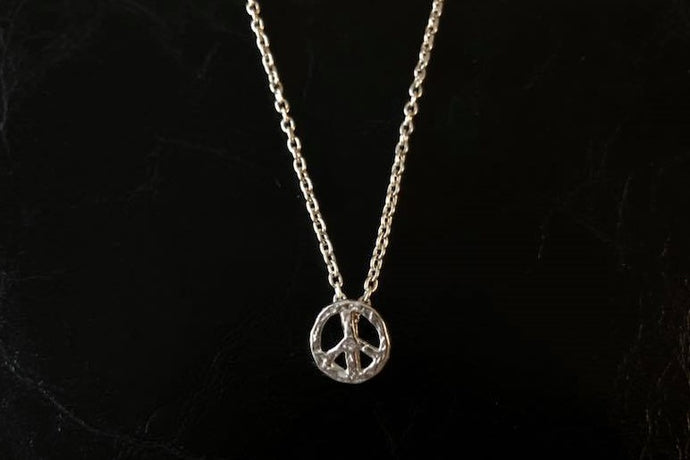 MINI icon necklace PEACE MARK 958 Britannia SILVER
