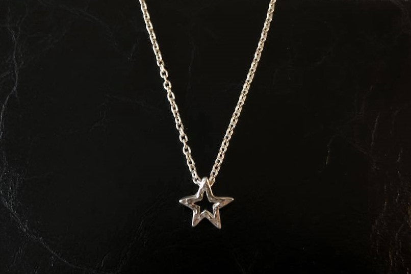 BLUER JEWELRY MINI icon necklace STAR 958 Britannia SILVER