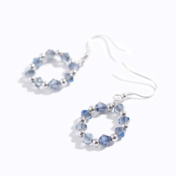 Aqua Blue Chrome Earrings