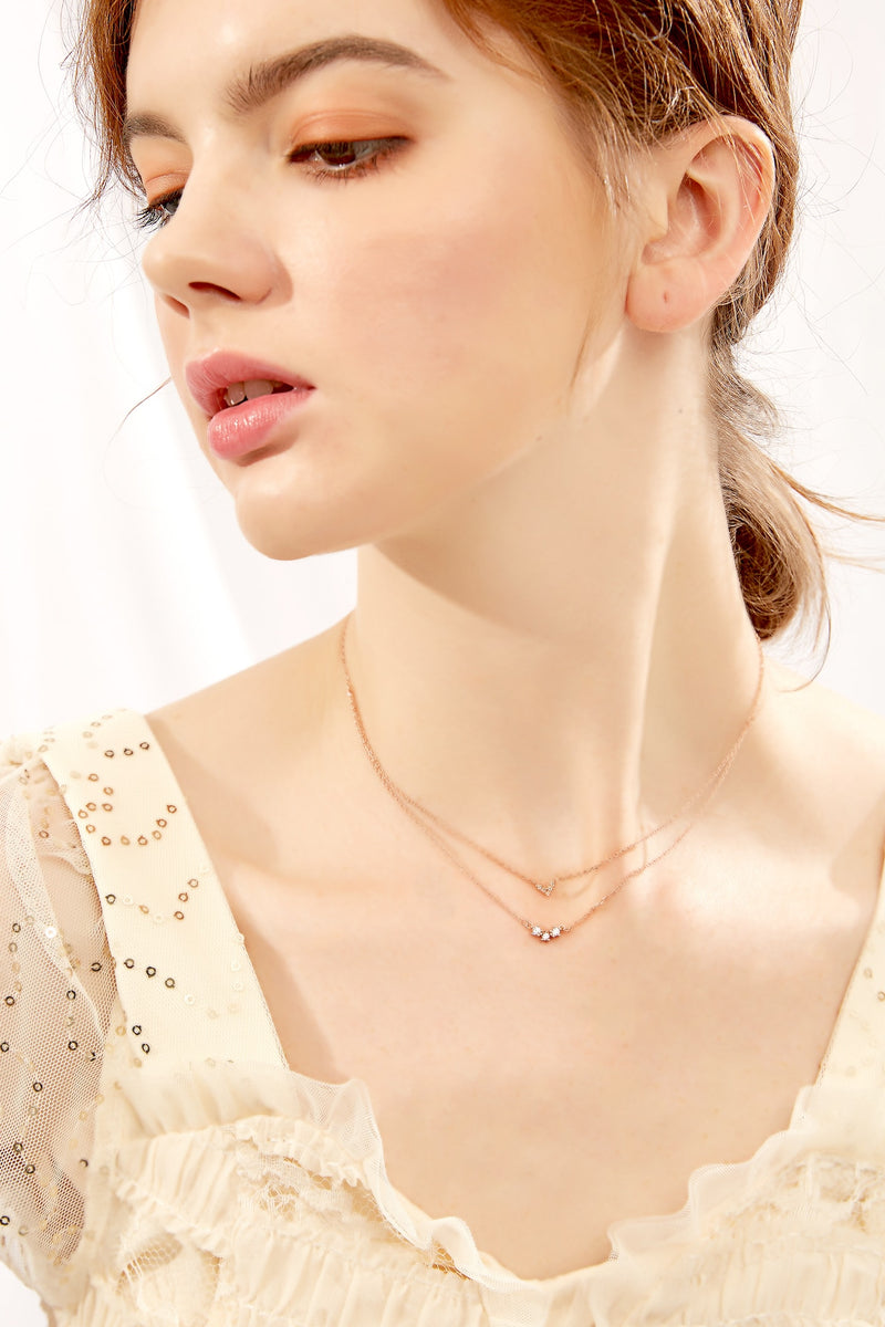 Double Layered Sweetheart Necklace