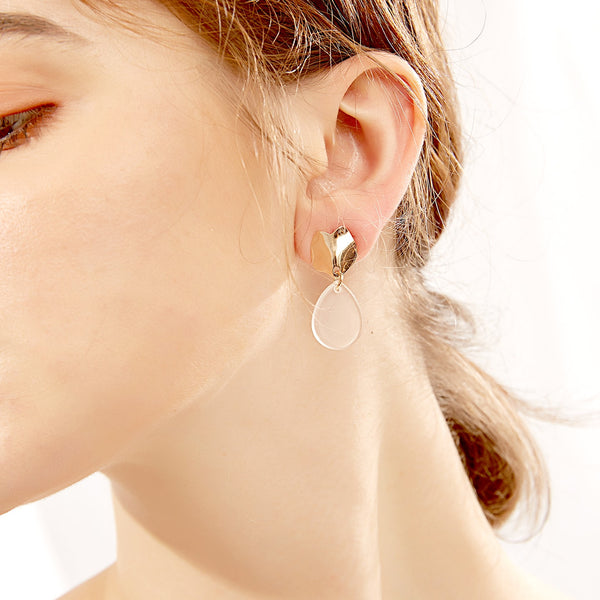 Clear Teardrop Resin Earrings