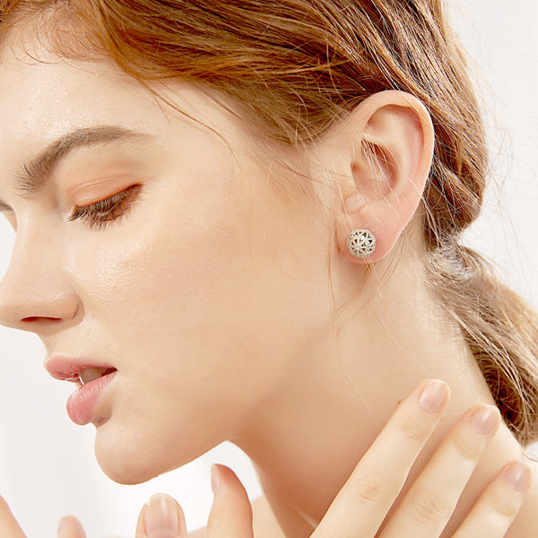 Double-Sided CZ Stud Earrings