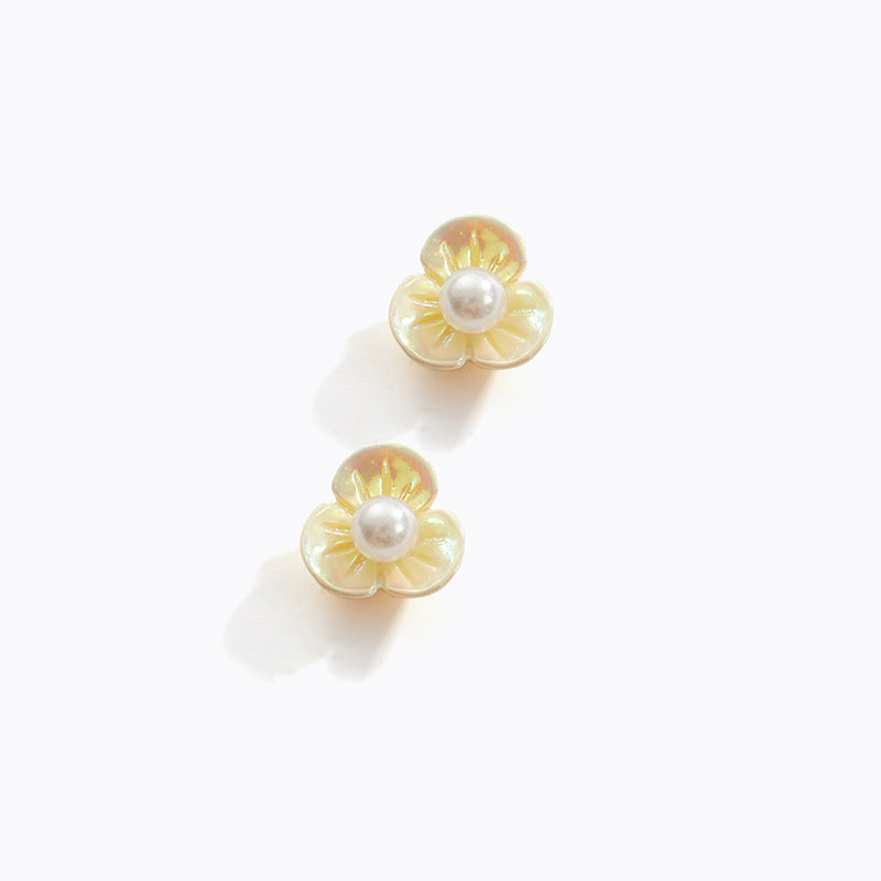 Chrome Flower Earrings
