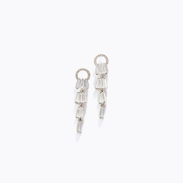 Long CZ Pendant Earrings