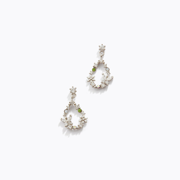 CZ Butterfly Garden Drop Earrings
