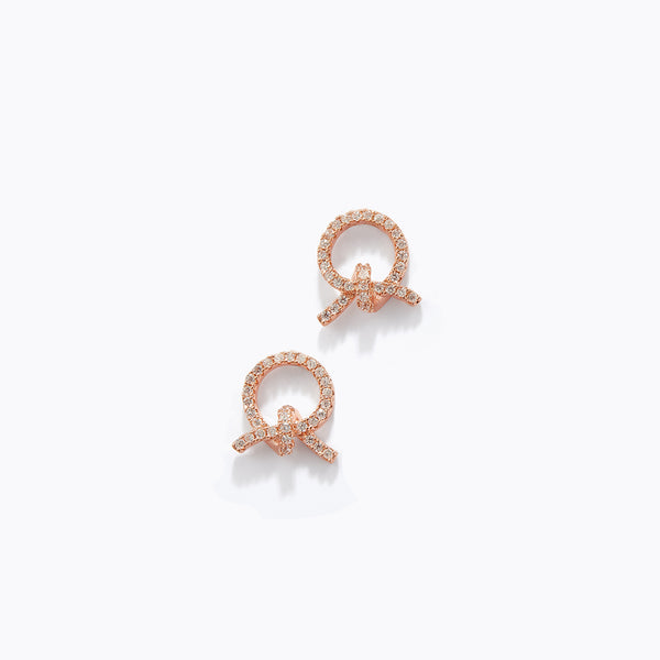 CZ Knot Stud Earrings