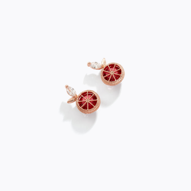 CZ Fruit Stud Earrings