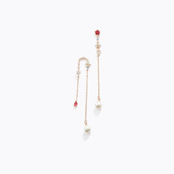 Multicolor Long Flower Drop Earrings